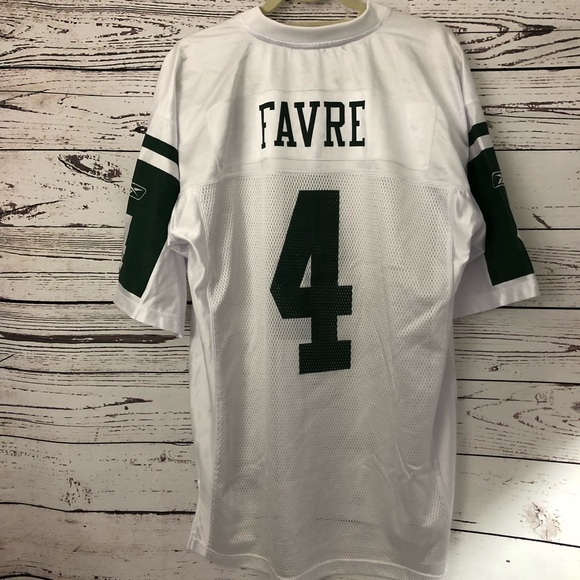 sports shoes 7b907 02032 RBK NFL New York Jets FAVRE No. 4 Authentic Jersey